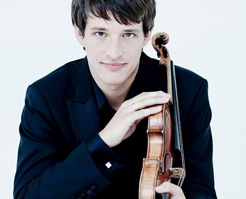 Portræt af Paweł Zalejski med violin