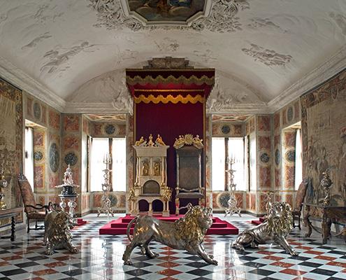 3 sølvløver på Rosenborg Slot